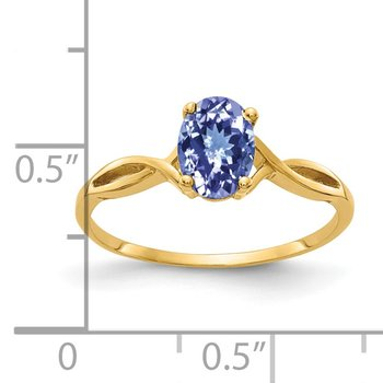 14k 7x5mm Oval Tanzanite ring