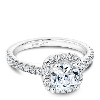 Noam Fancy Modern Engagement Ring B029-05A