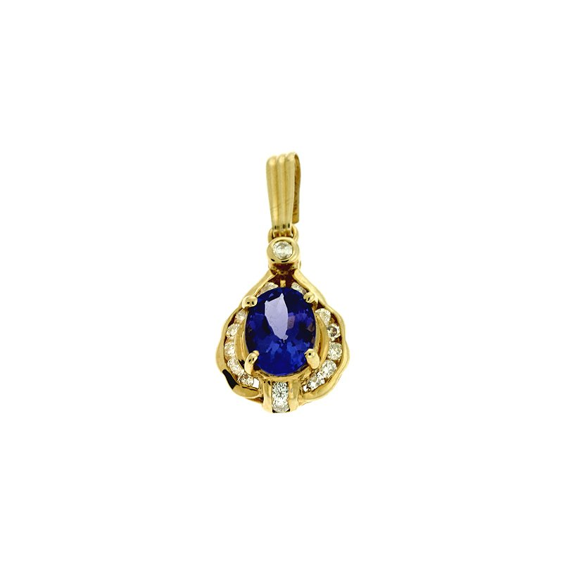 S. Kashi  & Sons Tanzanite & Diamond Pendant