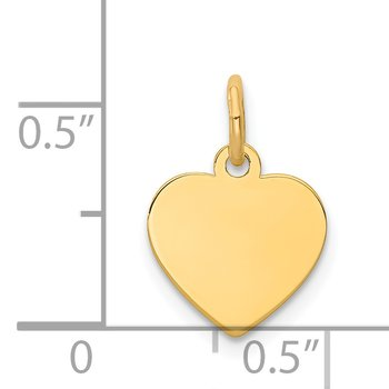 14k Plain .018 Gauge Engravable Heart Disc Charm