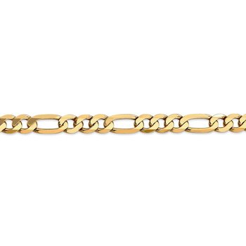 14k 7.5mm Flat Figaro Chain