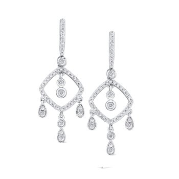 14K Gold and Diamond Chandelier Earrings