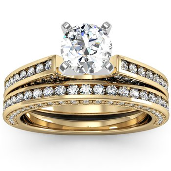 Pave & Channel Diamond Band