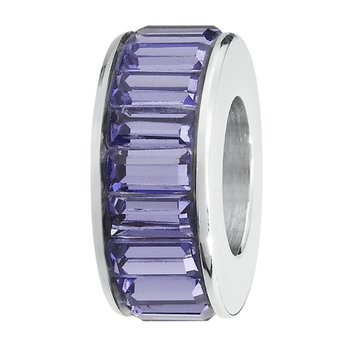 316L stainless steel and Swarovski® Elements tanzanite crystals