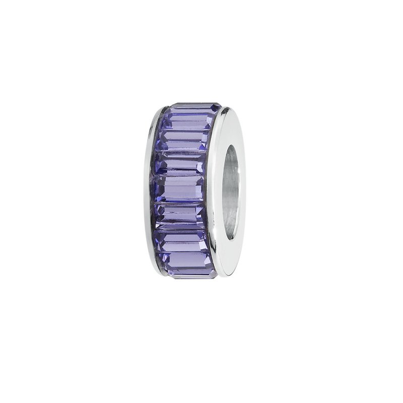 Brosway 316L stainless steel and Swarovski® Elements tanzanite crystals