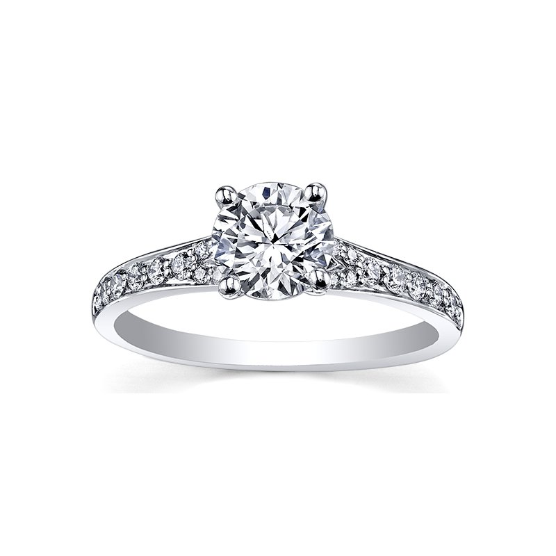 Maple Leaf Diamond Circle of Love Ladies Engagement Ring