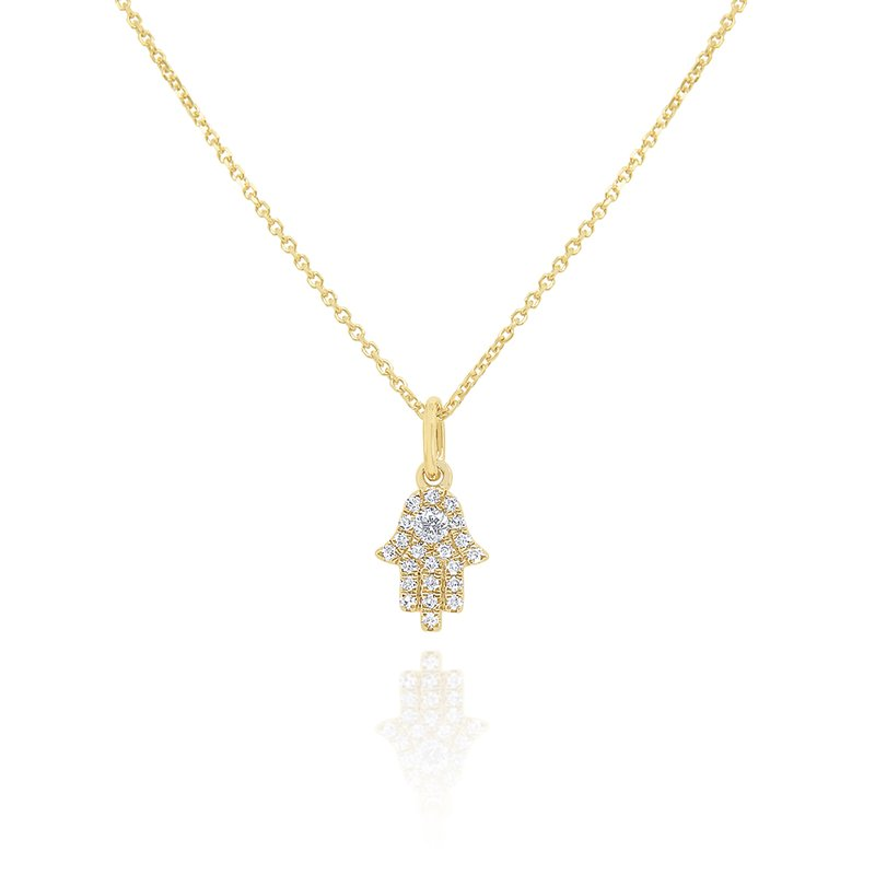 KC Designs 14k Gold and Diamond Mini Hamsa Necklace