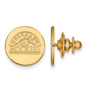 Gold-Plated Sterling Silver Colorado Rockies MLB Lapel Pin