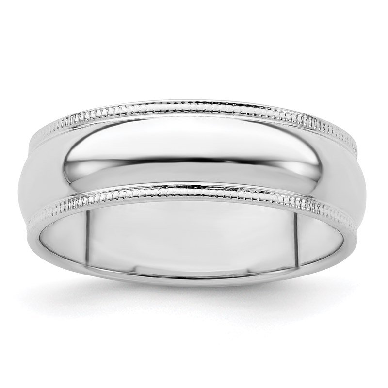 Lester Martin Online Collection Sterling Silver 6mm Half Round Milgrain Band