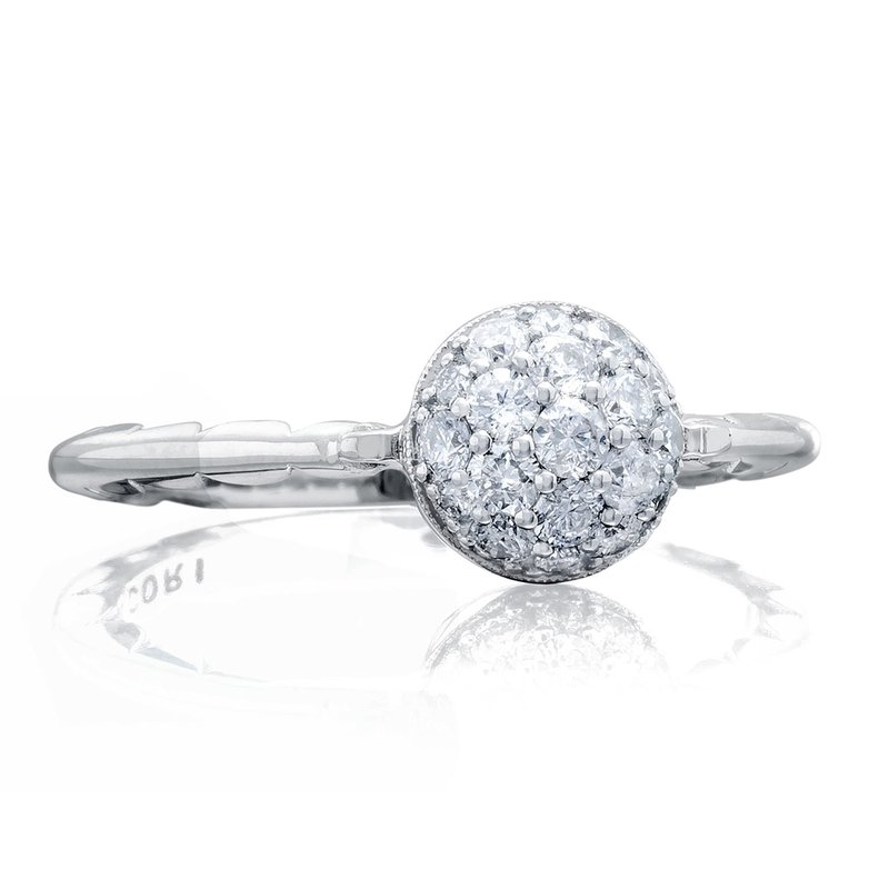 Tacori Fashion Petite Pavé Dew Drop Ring in Silver with diamonds