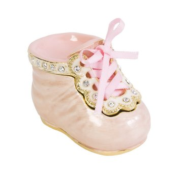 """It's a Girl"" Pink Baby Shoe"