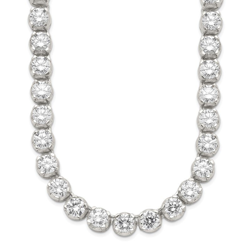 Quality Gold Sterling Silver Fancy CZ Necklace