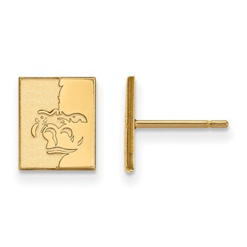 Gold Pittsburg State University NCAA Earrings