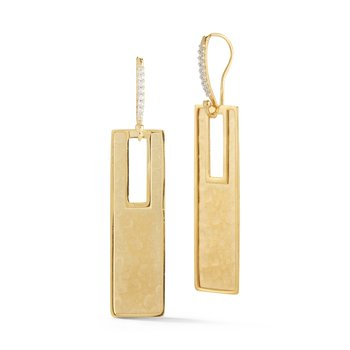 14KY DROP RECTANGLE EARRINGS .10CT
