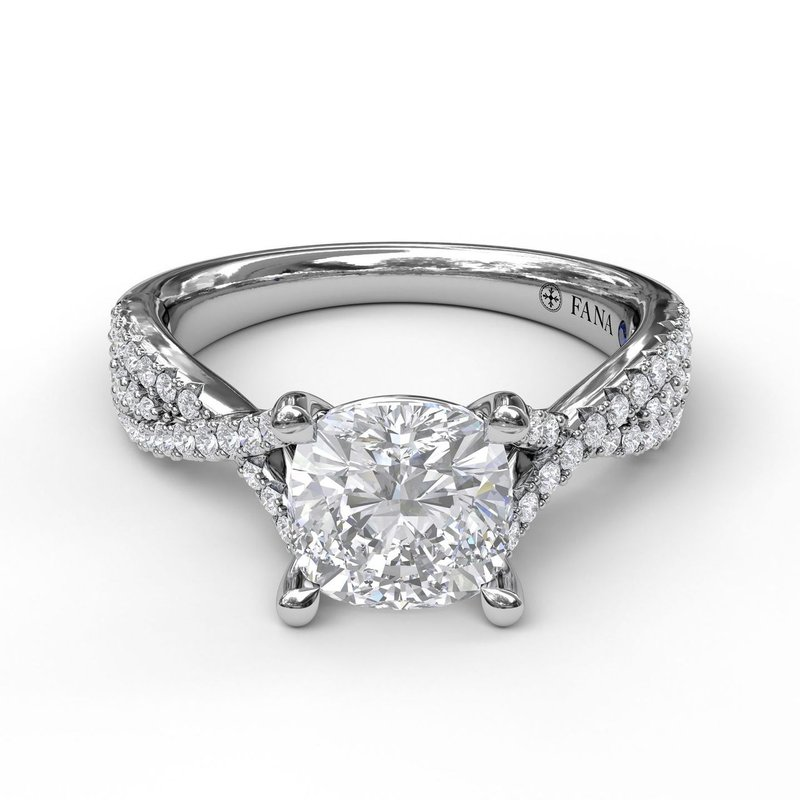 Fana Twist Diamond Engagement Ring