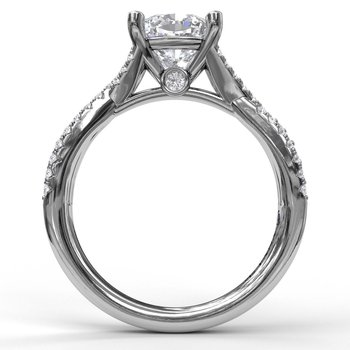 Twist Diamond Engagement Ring