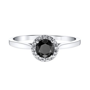 1/2 Carat tw Black Diamond Engagement Ring