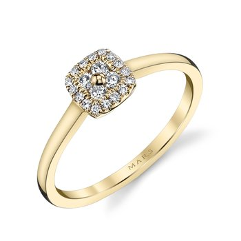 MARS 26120 Diamond Engagement Ring, 0.18 Ctw.