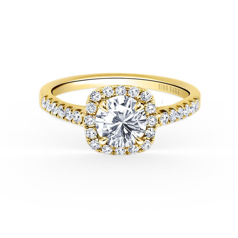 Kirk Kara Modern Halo Diamond Engagement Ring