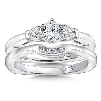 6-Prong Center Solitaire Engagement Ring in 14K White Gold (1/3ct. tw.)