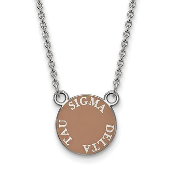 Sterling Silver Sigma Delta Tau Greek Life Necklace