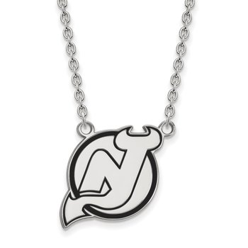 Sterling Silver New Jersey Devils NHL Necklace