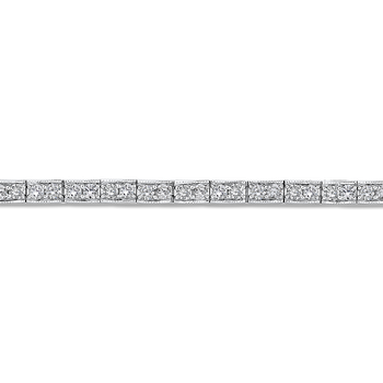 14K White Gold 3.50 ct Round White Diamond Tennis Bracelet