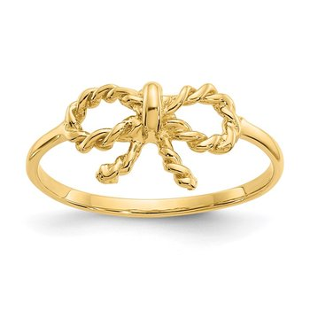 14k Polished Bow Ring
