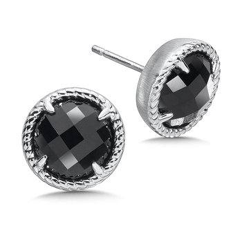 Sterling Silver Onyx Essentials Post Earrings