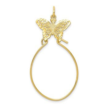 10k Filigree Butterfly Charm Holder