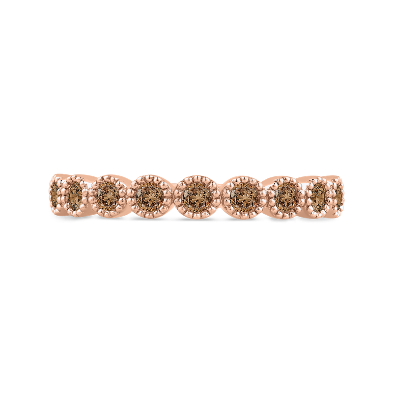 Essentials 10K Rose Gold 1/3 ct Brown Diamond Wedding Band Fashion Ring