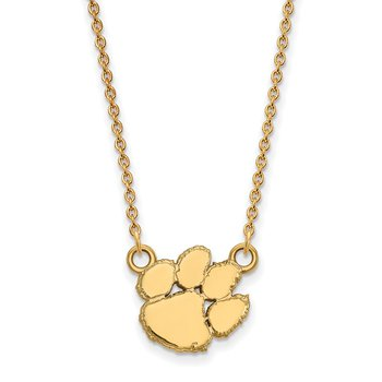 Gold-Plated Sterling Silver Clemson University NCAA Necklace