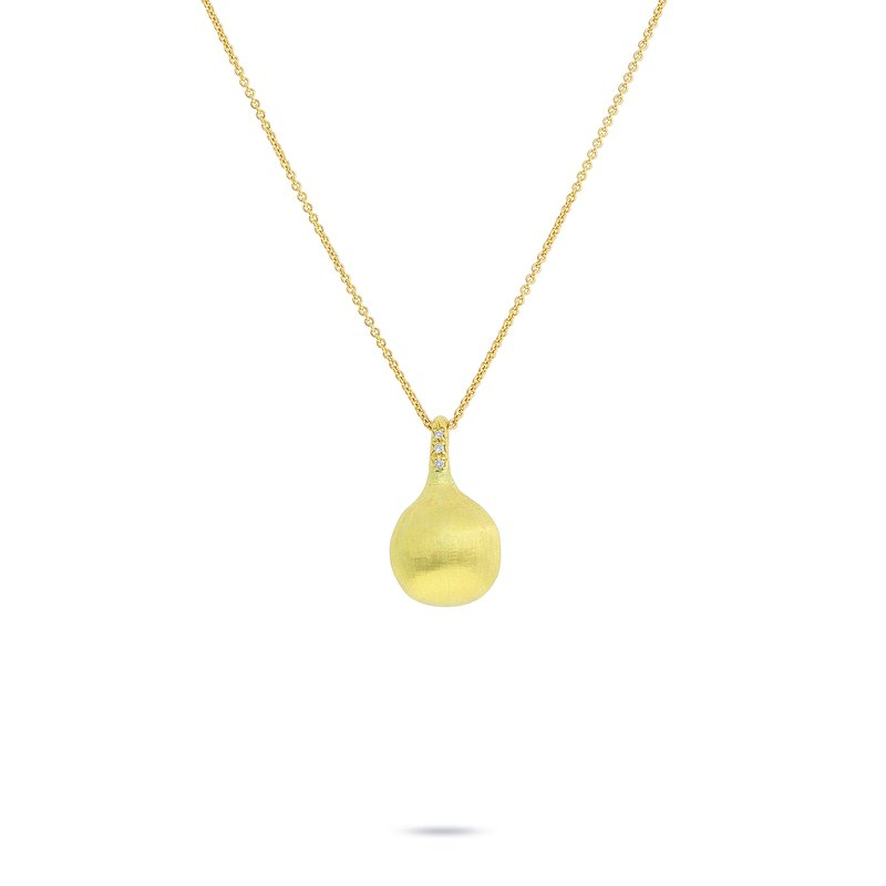 Marco Bicego Marco Bicego® Africa Boule Collection 18K Yellow Gold and Diamond Pendant