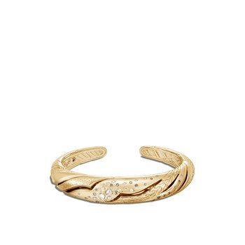 Lahar Kick Cuff in 18K Gold with Diamonds