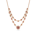 Roberto Coin 18Kt Gold Necklace With Diamonds, Sapphires And Tourmaline