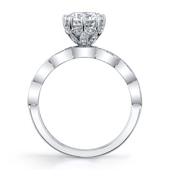 MARS 27186 Diamond Engagement Ring, 0.15 Ctw.