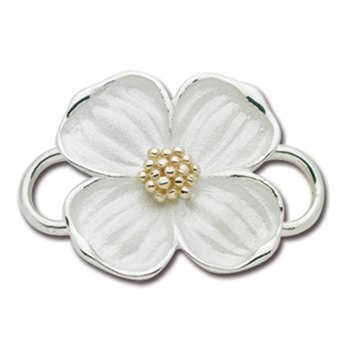 Two Tone Dogwood Convertible Clasp