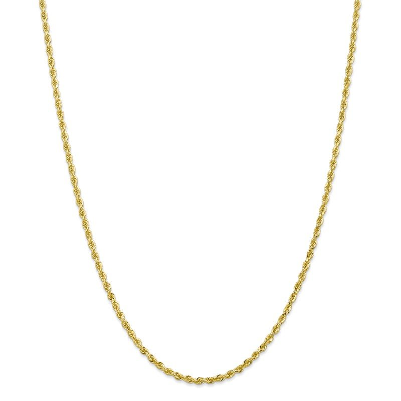 Quality Gold 10k 2.75mm D/C Quadruple Rope Chain