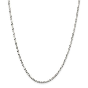 Sterling Silver 2.5mm Round Spiga Chain