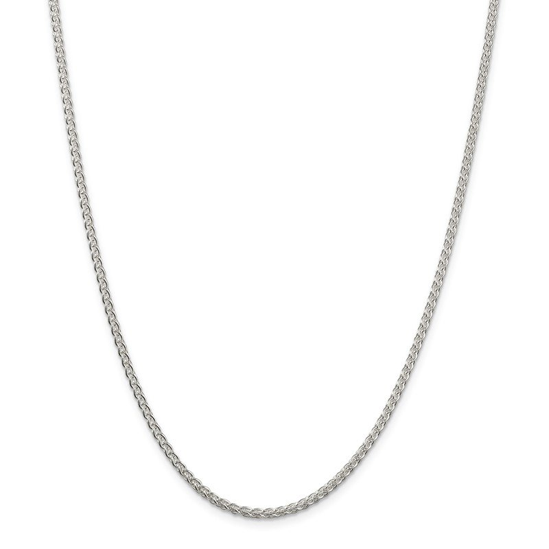 Quality Gold Sterling Silver 2.5mm Round Spiga Chain