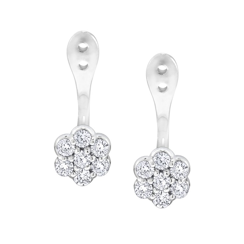 MAZZARESE Fashion 14K Gold and Diamond Cluster Earring Jacket
