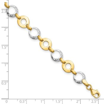 Leslie's 14k Two-tone Polished Bracelet