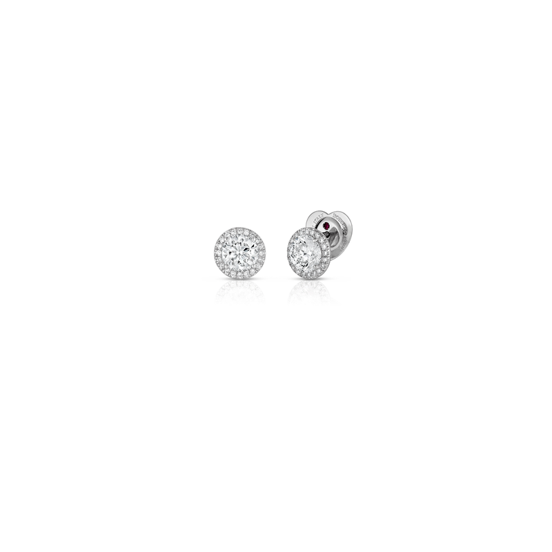 Roberto Coin Cento Halo Stud Earrings