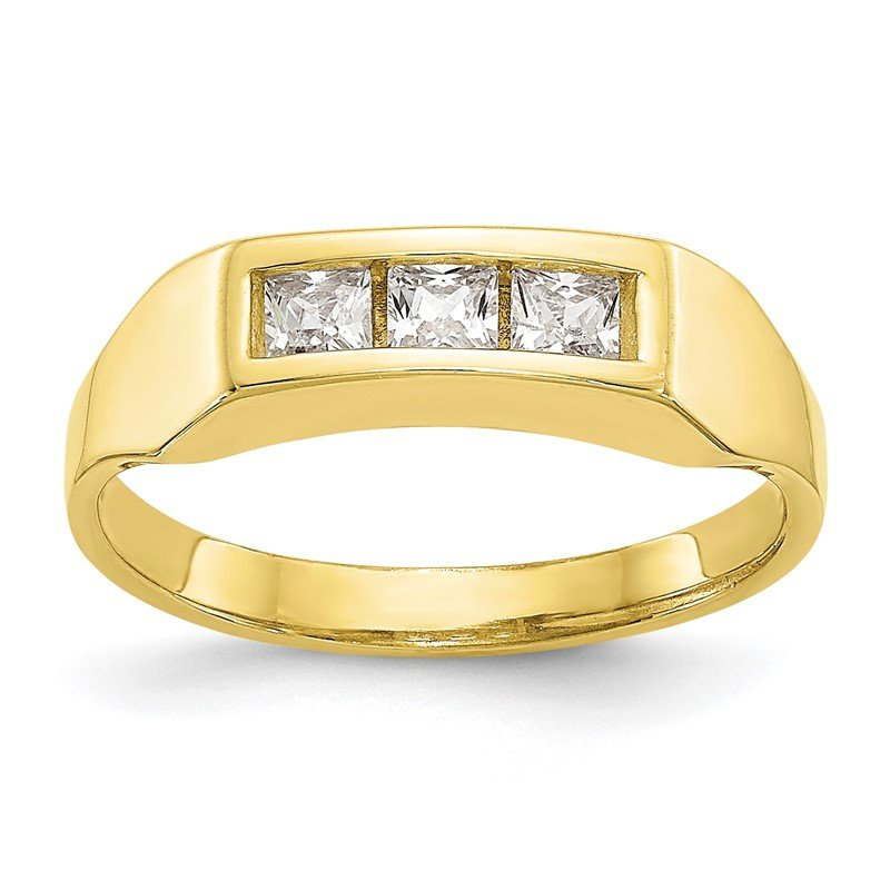 JC Sipe Essentials 10k CZ Polished Child's Ring