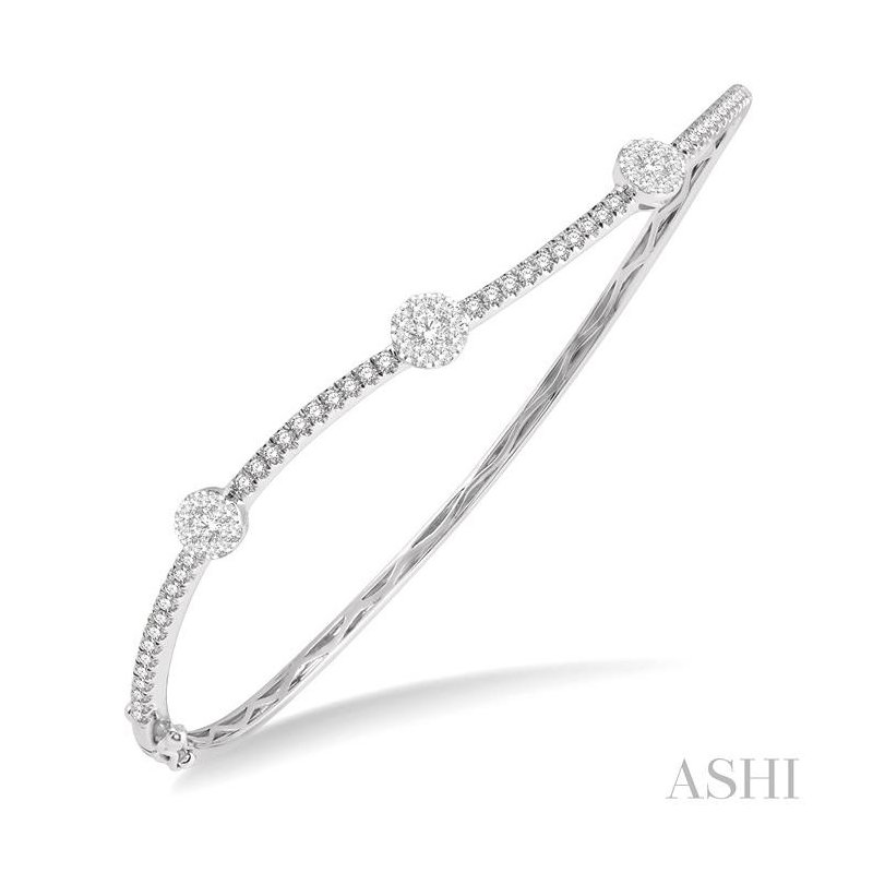 ASHI lovebright diamond bangle