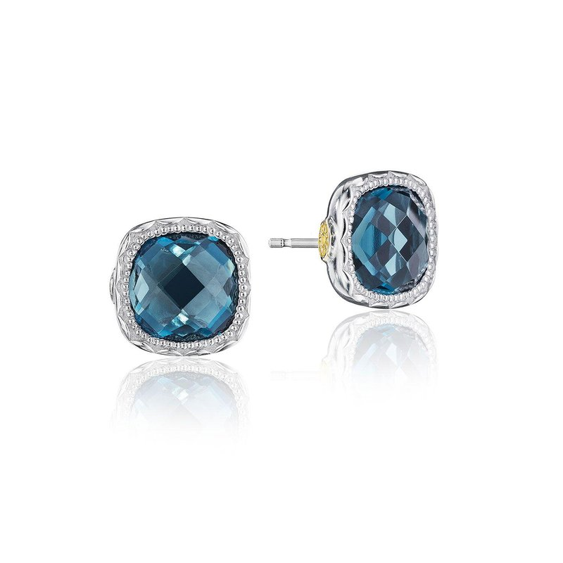 Tacori Fashion Cushion Gem Earrings with London Blue Topaz