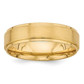 14k Yellow Gold Standard Comfort Fit Fancy Band
