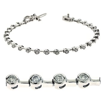 Tube Diamond Tennis Bracelet