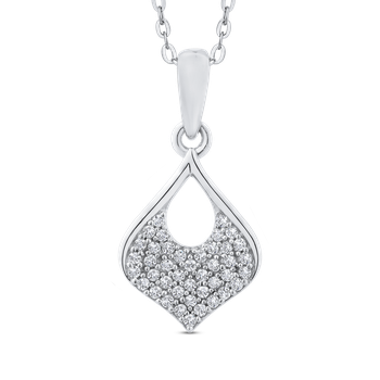 Round Cut Diamond Gold Fashion Pendant