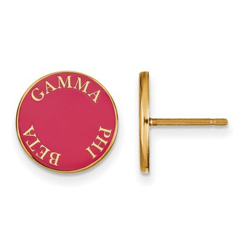 Gold-Plated Sterling Silver Gamma Phi Beta Greek Life Earrings